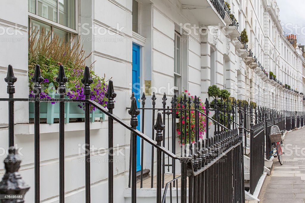 Townhouses of Chelsea, England stock photo