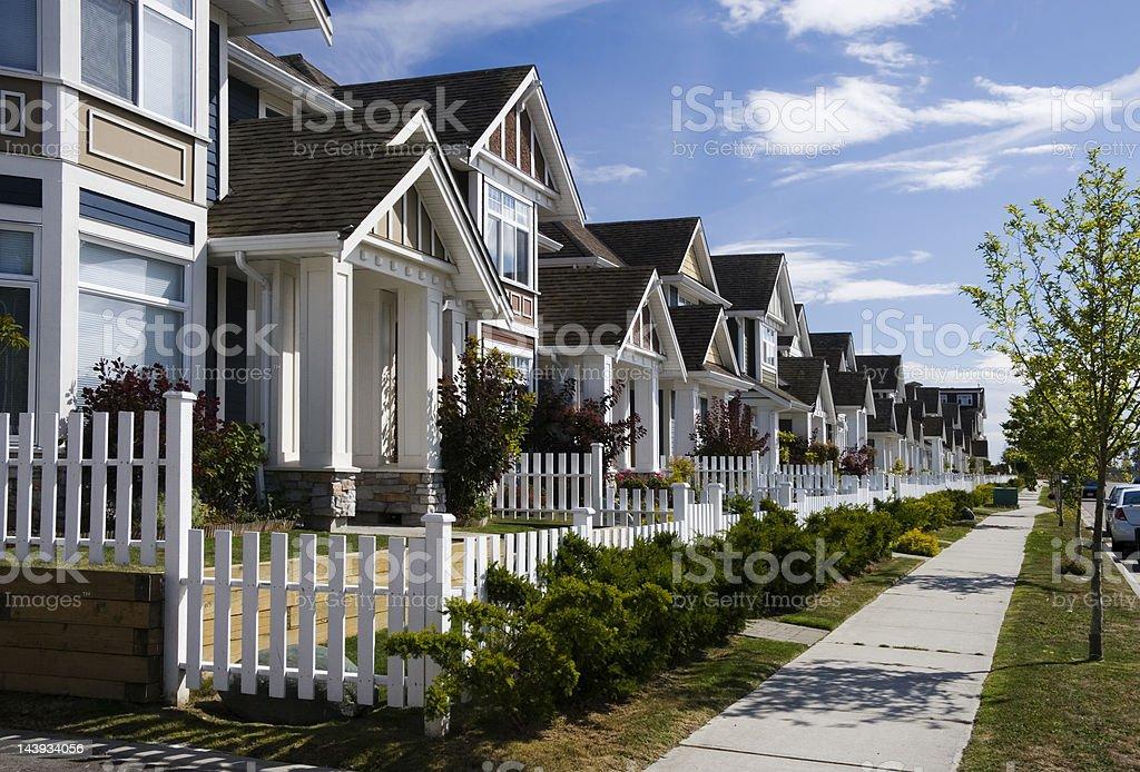 Townhouses stock photo