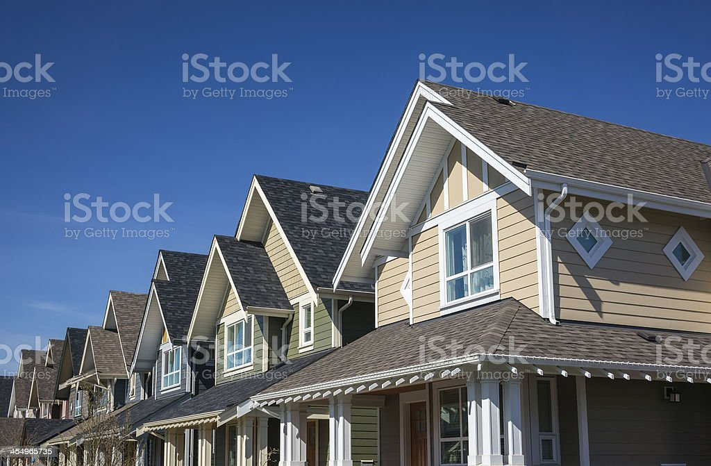 Townhouses stock photo