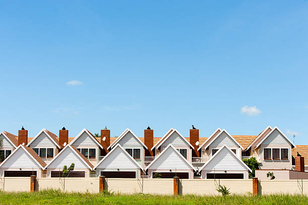 townhouses. - terraced houses stock photos and pictures