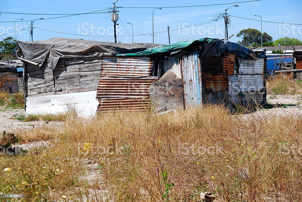 Township house in Langa stock photo