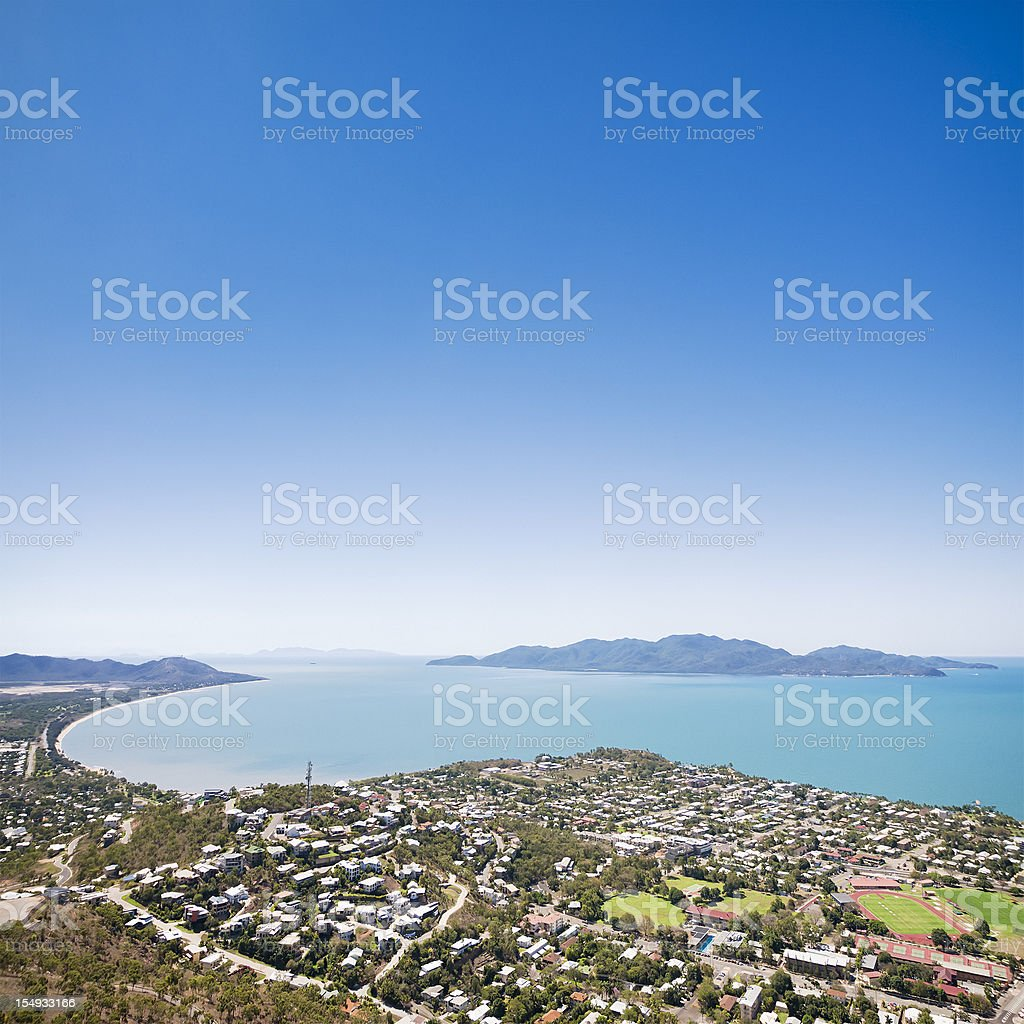 Townsville and Magnetic Island stock photo