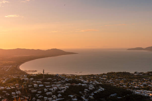 Townsville Castle Hill Sunset stock photo
