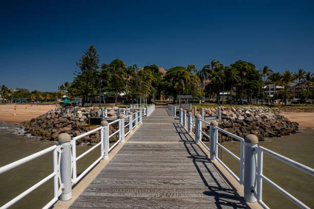 Townsville's Strand Pier stock photo