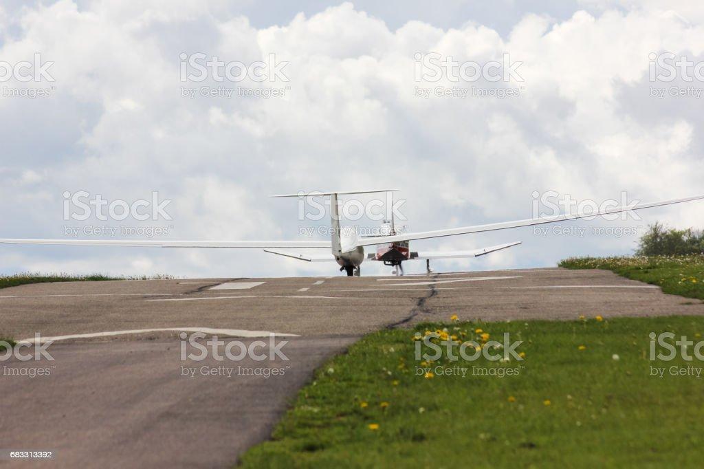 towplane med segelflygplan start royaltyfri bildbanksbilder