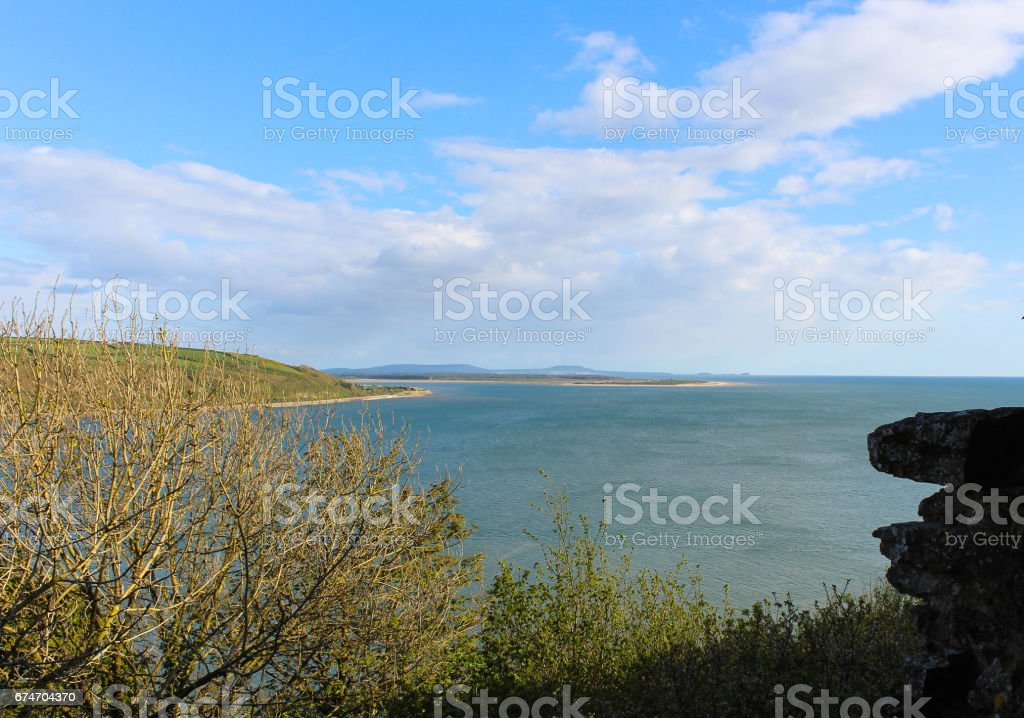 Towy Estuary and Gower Penisula stock photo