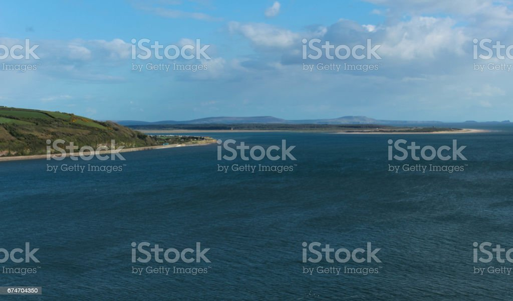 Towy Estuary at High Tide stock photo