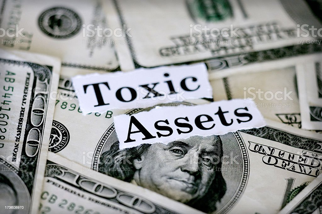 toxic assets royalty-free stock photo
