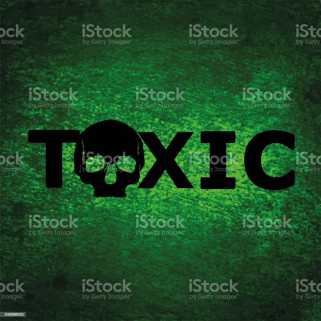 Toxic background with skull stock photo