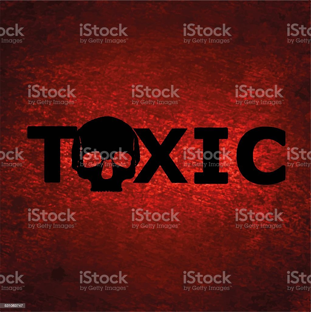 Toxic background with skull stock photo