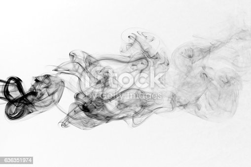 istock Toxic fumes movement on a white background. 636351974