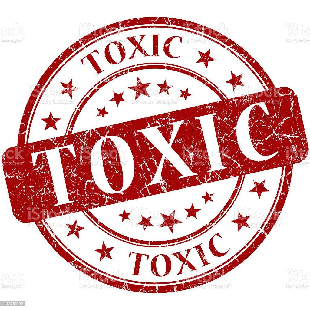 toxic grunge round red stamp royalty-free stock photo