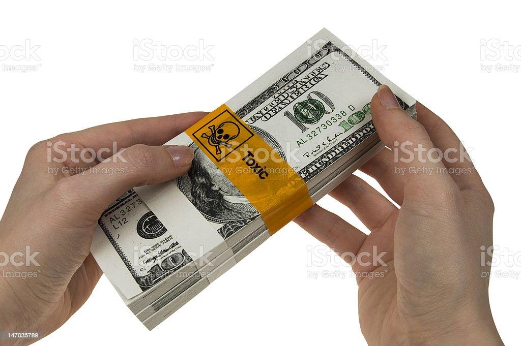 toxic money royalty-free stock photo