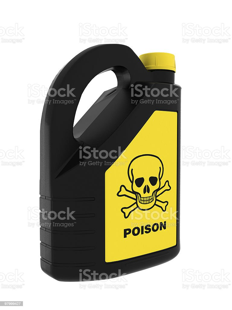 Toxic! Poison can royalty-free stock photo