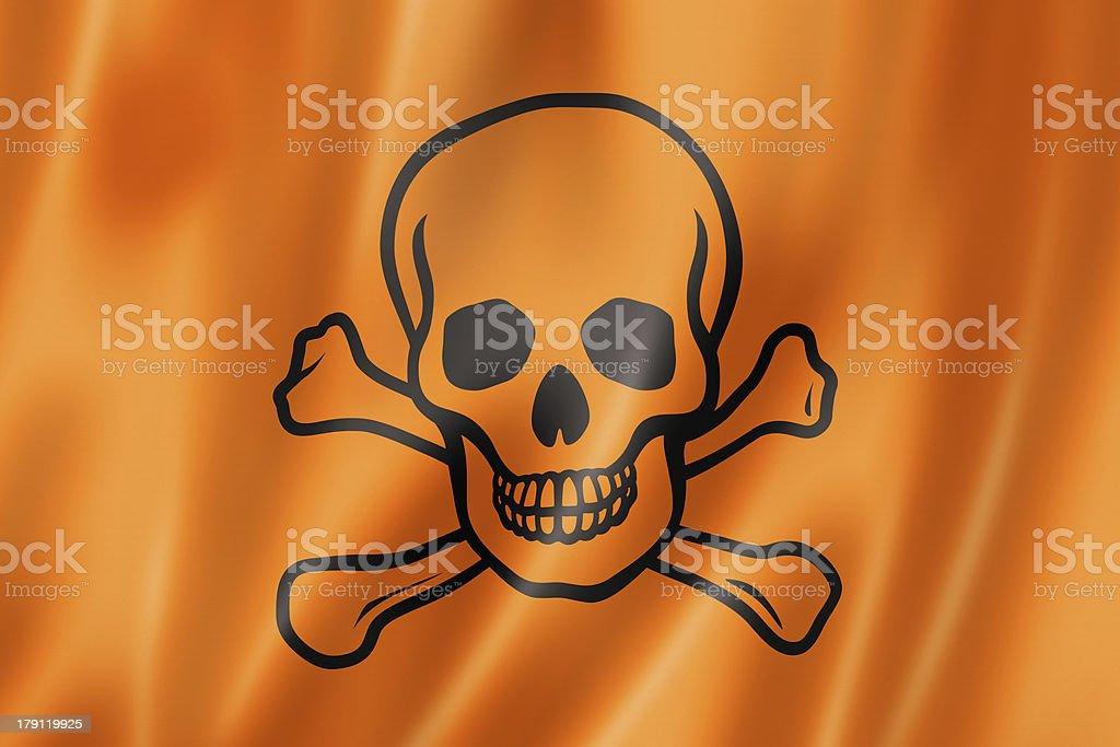 toxic poison skull flag royalty-free stock photo