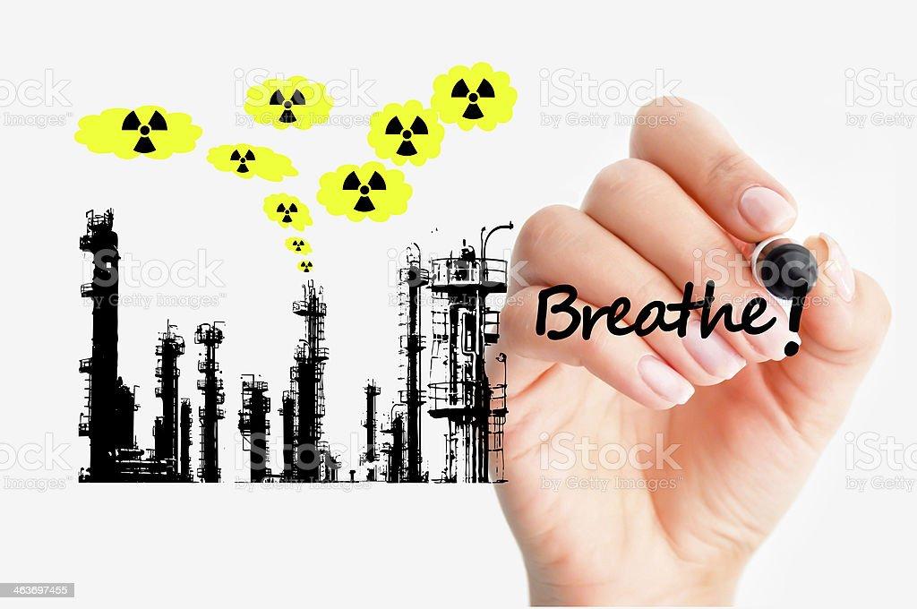 Toxic refinery concept stock photo