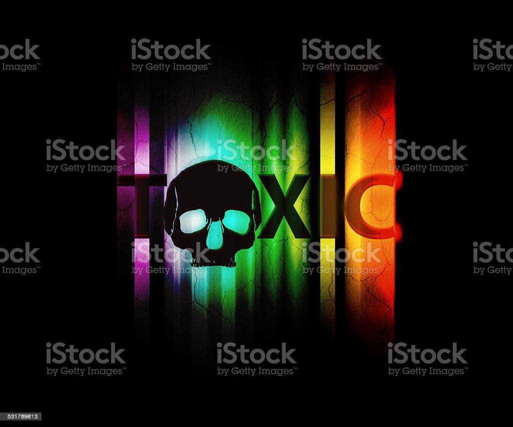 toxic wallpaper stock photo