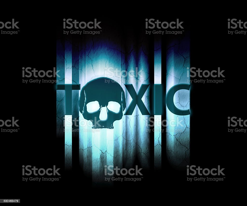 toxic wallpaper royalty-free stock photo