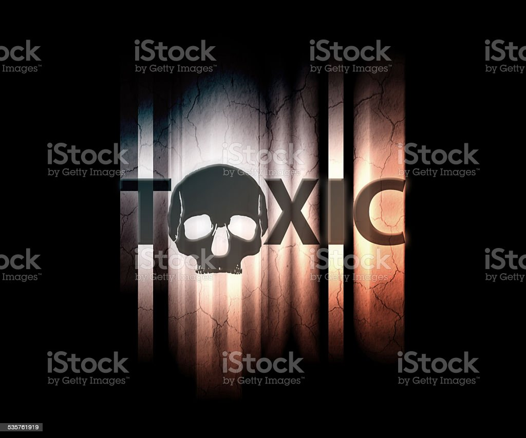 toxic wallpaper stock photo