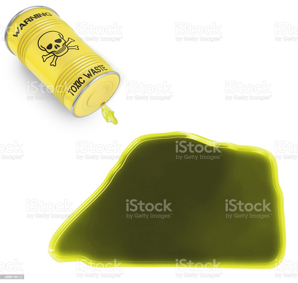 Toxic waste in the shape of Jarvis Island (series) stock photo