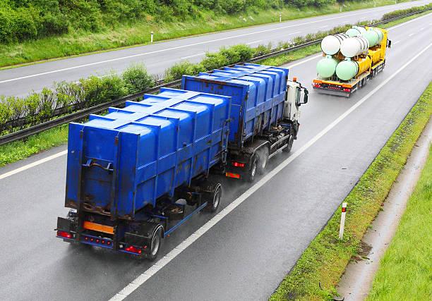 Toxic waste transport. stock photo