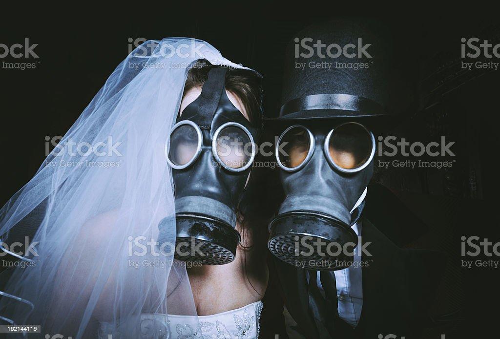 Toxic Wedding royalty-free stock photo