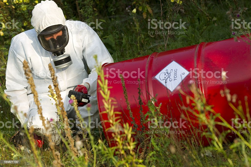 Toxicology, cleanup stock photo