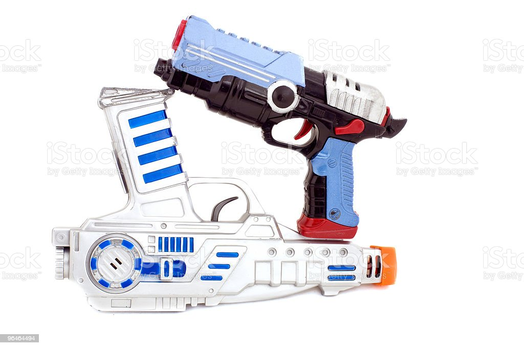 Toy - a two pistols royalty-free stock photo