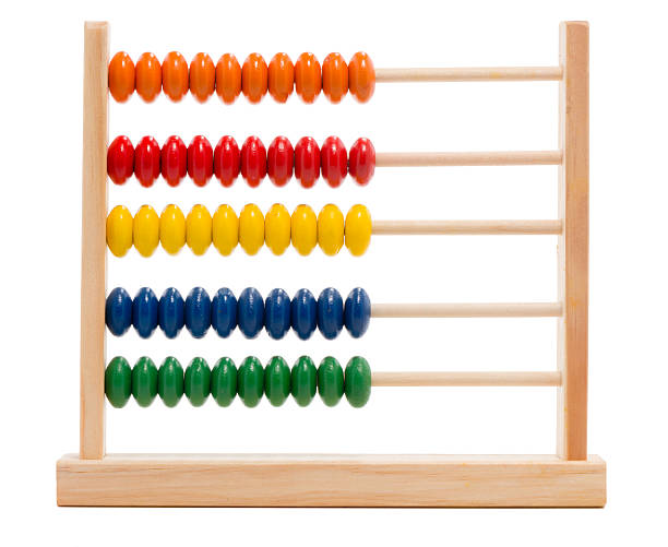 Toy abacus on white - foto stock