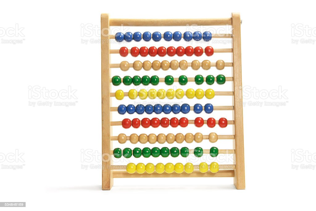 Toy Abacus stock photo