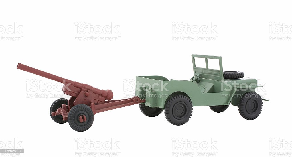 Toy Army Jeep royalty-free stock photo