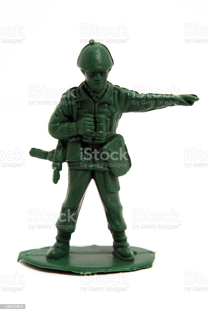 Toy Army Squad Leader stock photo