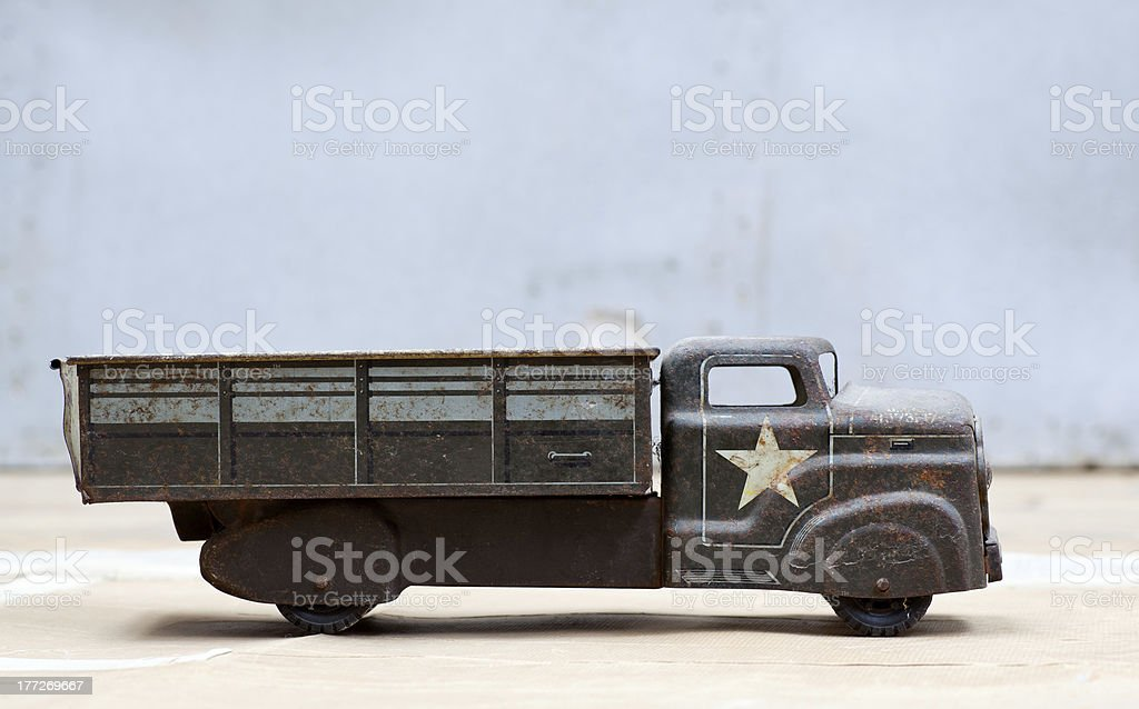 Toy army truck royalty-free stock photo