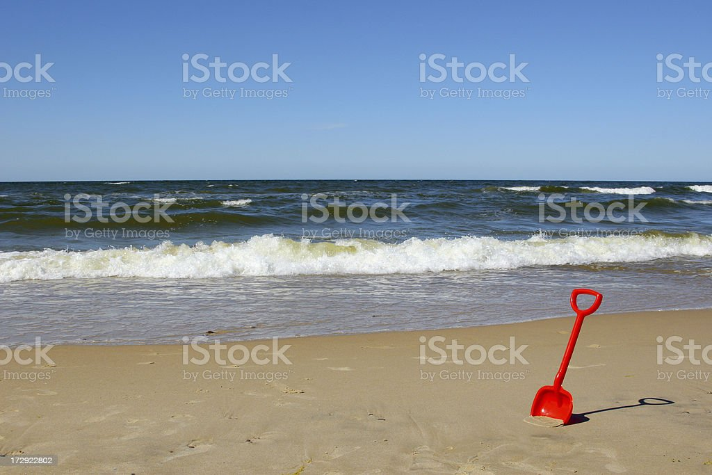 Toy at beach royalty-free stock photo