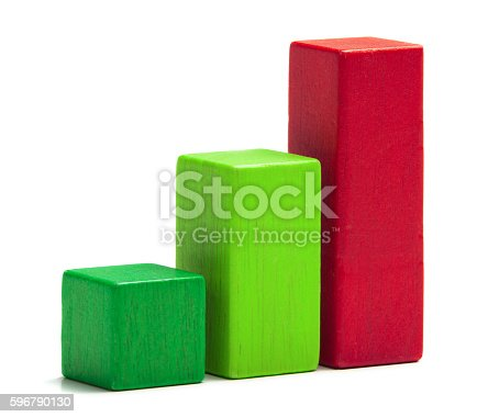 472923810 istock photo Toy Blocks Progress Bar Stair, Multicolor Bricks, White Isolated 596790130