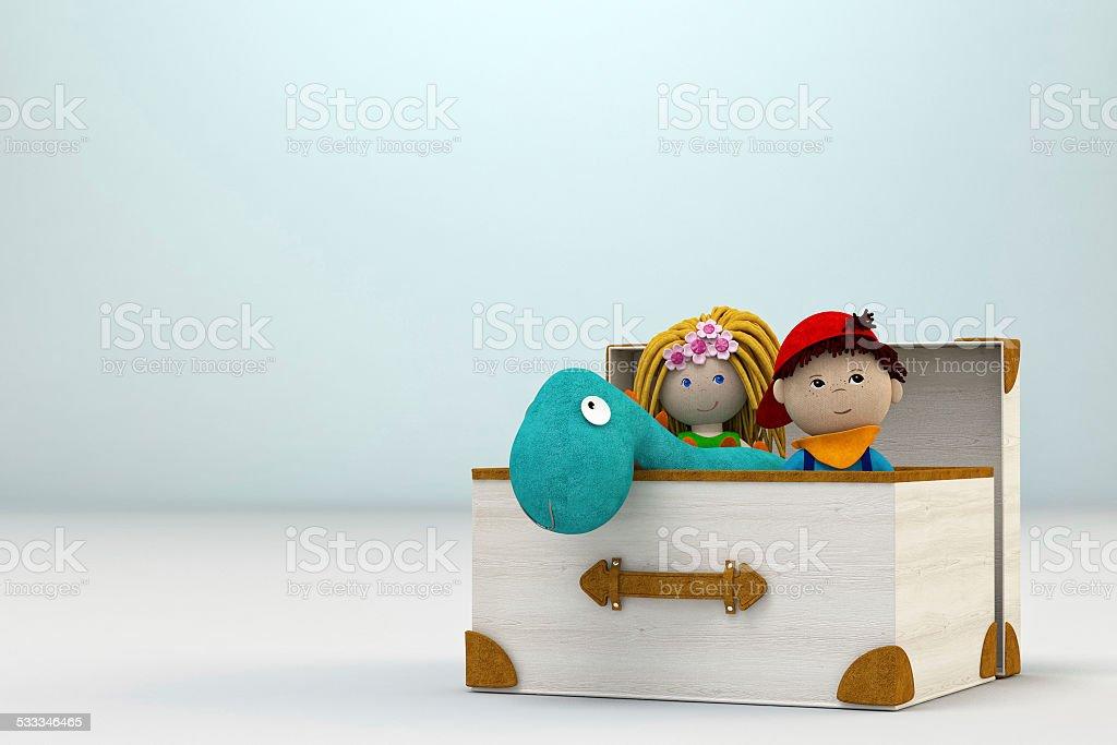 Toy box - Stock Image stock photo