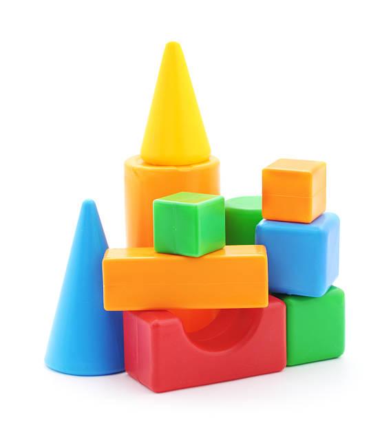 Juguete de construcción material. - foto de stock