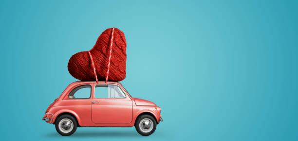 Spielzeugauto liefern Herz – Foto