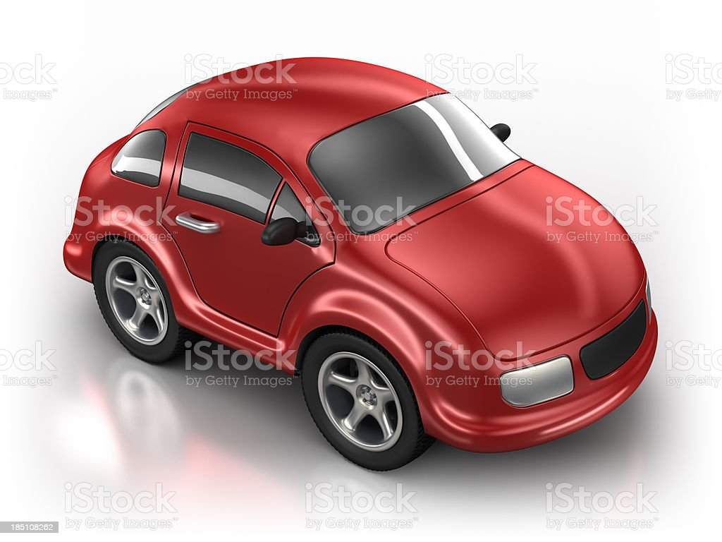 Toy Car in studio - isolated with clipping path stock photo