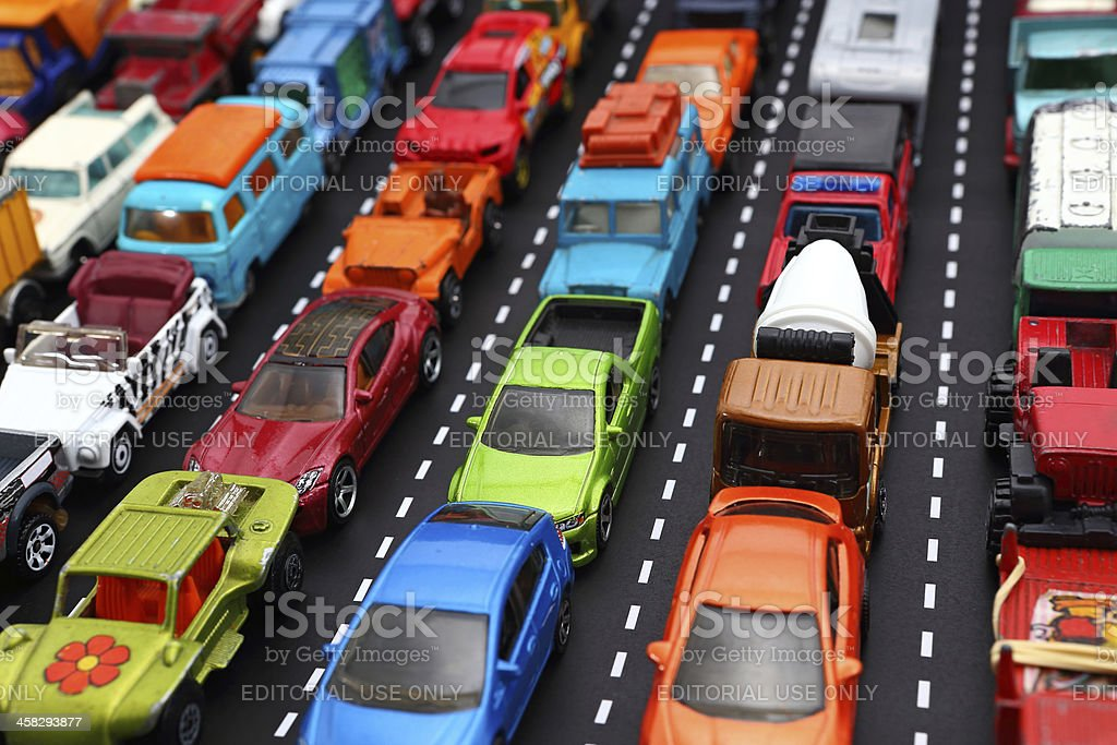 Toy Cars royalty-free stock photo