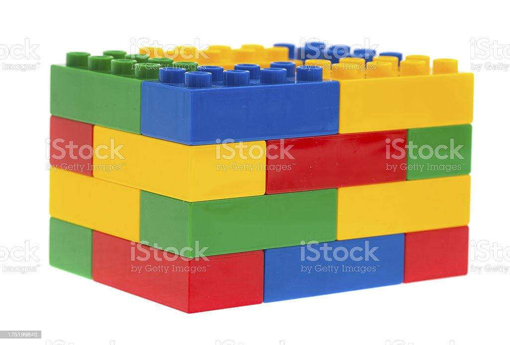 toy cubes - bunte Bauklötze Duplosteine stock photo