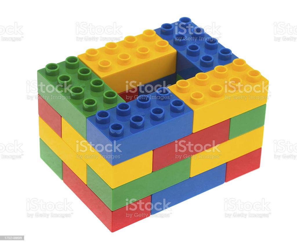 toy cubes - bunte duplo Bauklötze plastic bricks stock photo