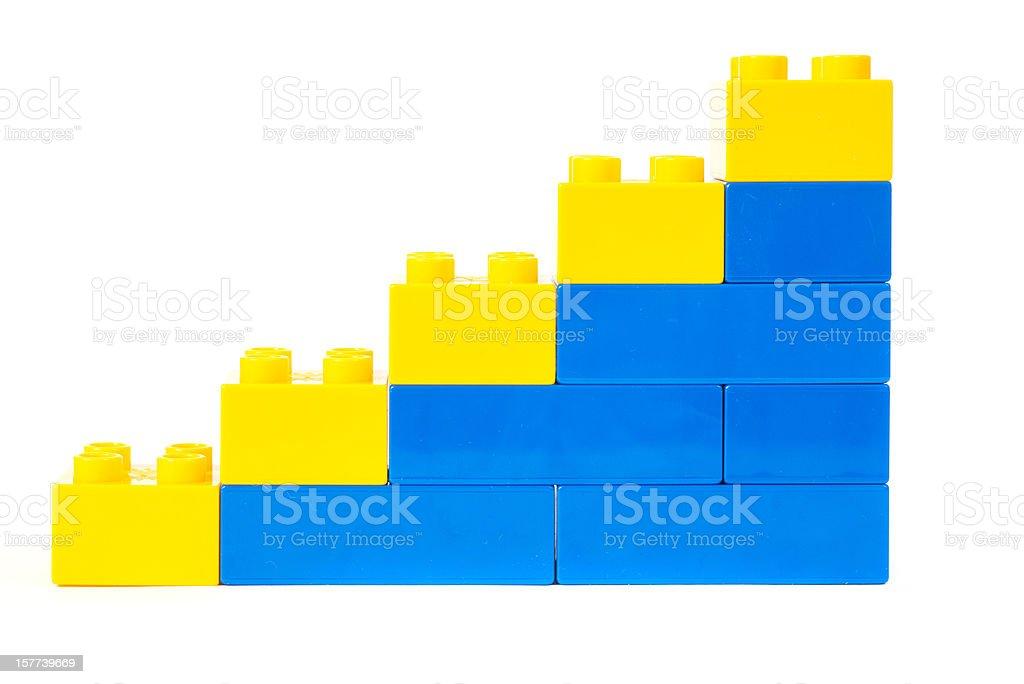 toy cubes diagram graph success stock photo
