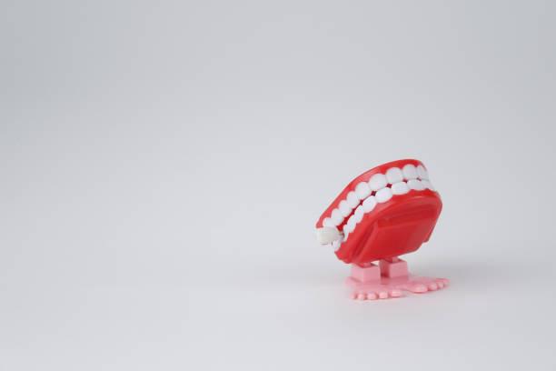 Toy denture - foto stock