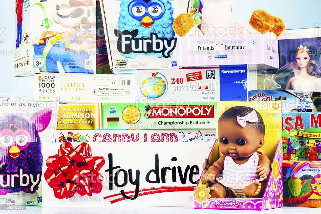 Toy Drive Collection royalty-free stock photo