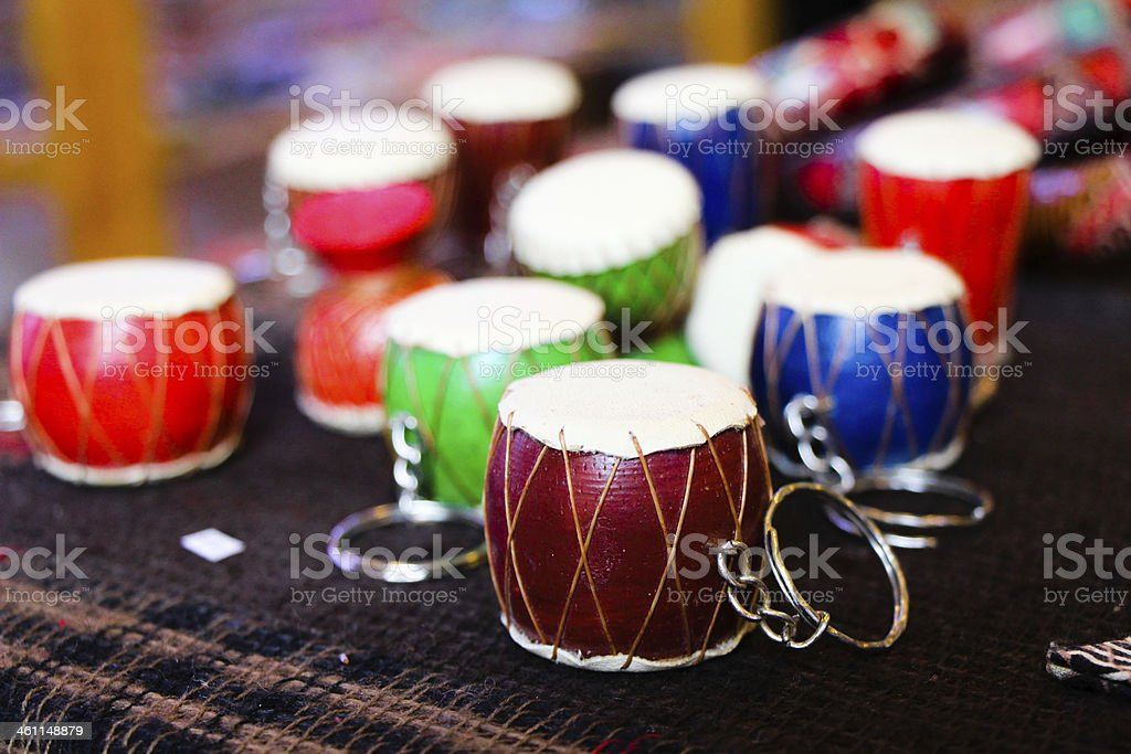 Toy Drums stock photo