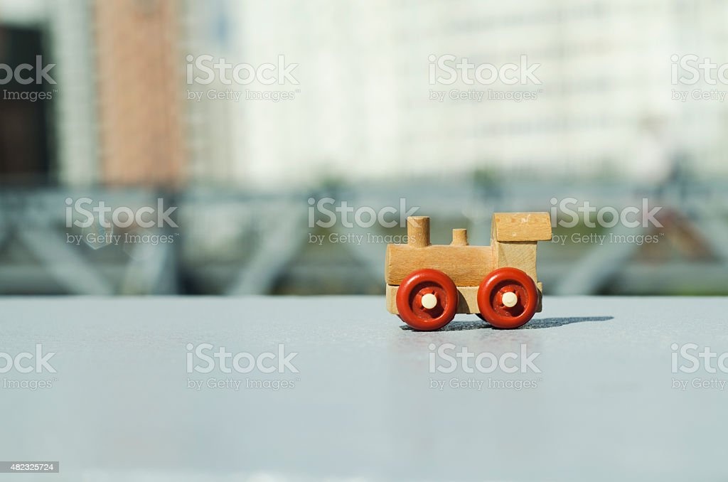 Toy engine stock photo