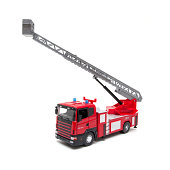 Toy Fire Engine isolated on white background