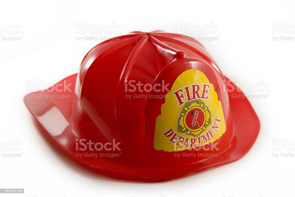 Toy fireman's hat stock photo