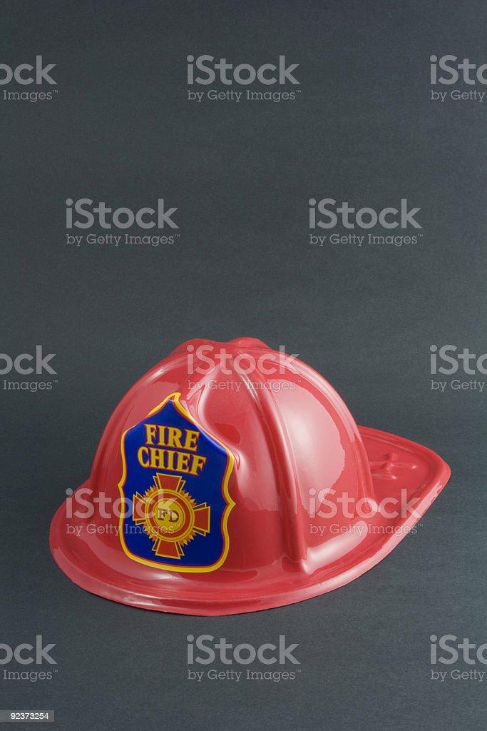 Toy Fireman's Helmet royalty-free stock photo